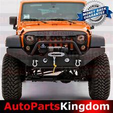 Rock Crawler Full Width Front Bumper+Fog Light Hole Fit 07-17 Jeep JK Wrangler