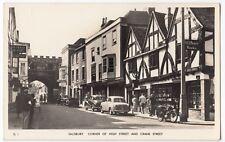 Salisbury, Corner of High St & Crane St RP PPC Unposted, c 1954 - 1955, By Mason