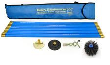 "Bailey Drain & Chimney Flue Cleaning Set 6"" Brush Scraper Worm Plunger & 10 Rods"