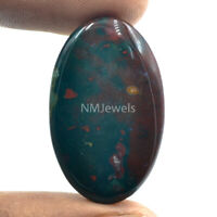 Cts. 32.20 Natural Designer Bloodstone Cabochon Oval Cab  Loose Gemstone