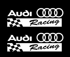 Audi Racing Sticker WHITE 2X Decal R8 TT RS4 RS6 RS7 A4 A6 A8 v8 v10 RS Stickers