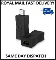 Useful Micro USB Male to Mini USB Female Adapter Data Charger Converter Adaptor