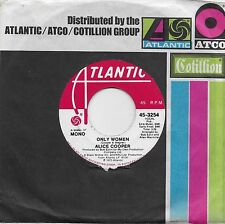 ALICE COOPER  Only Women  rare promo 45 from 1975