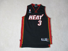 1ba5c36363f0 New ListingReebok Dwyane Wade Miami Heat Jersey Youth Medium Black Red SEWN  Kids Boys
