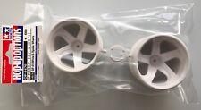 TAMIYA 54676 gf-01 blanc 5 rayons roues (2 pièces) (GF01) NIP