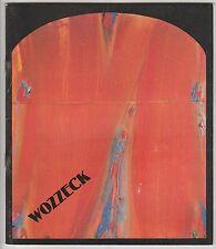 Programme Opéra de Paris Wozzeck Alban Berg 1986