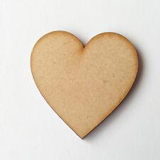 30 x WEOODEN HEARTS   LASER MDF WOODEN SHAPE Arts Crafts Wood Decor Wedding 40mm