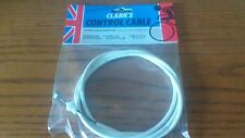 GENTS CYCLE BARREL NIPPLE  BRAKE CABLE 5037  WHITE MADE BY CLARKS ENGLAND