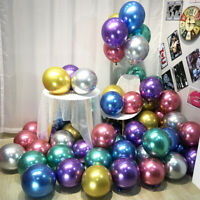"10/20pcs 10"" Metal Latex Balloons Matte Thick Chrome Globos Party Decoration"