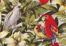 Pretty Retro Look Exotic Birds TNT Troy 100%  Cotton Quilting, By the Yard OOP