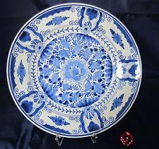 DELFT-DE porcelenye allemandes-signé-ASSIETTE assiettes - 22,5 cm