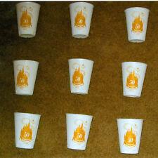 9 Unused 1955-1995 50th Anniversary Disneyland Styrofoam Cups