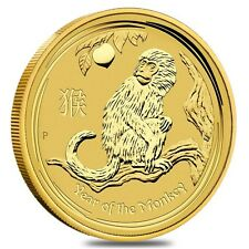 2016 1/20 oz Gold Year of The Monkey BU In Cap - Australia Perth Mint
