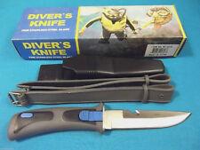 "Blue & Grey DIVING knife YK407B 9"" overall / snap lock sheath & strap M3315 W"