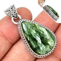 Seraphinite 925 Seerling Silver Pendant Jewelry SRPP1139