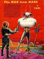 VINTAGE SCI FI MARTIAN ALIEN FANTASTIC ADVENTURE NEW ART PRINT POSTER CC3333
