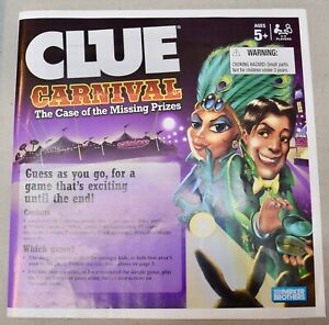 Clue Carnival Board Game Replacement Parts & Pieces 2009 Hasbro