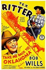 Take Me Back to Oklahoma 1940 Tex Ritter, Bob Wills Western DVD