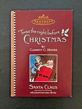 Hallmark Ornament Twas the Night Before Christmas Velvet Santa Claus Dated 2001