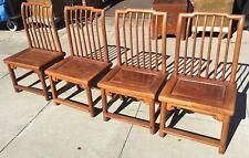 Set of 4 Antique Elmwood Tea Table Chairs