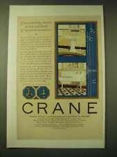 1924 Crane Bath Fixtures Ad - Kitchen Sink, Nova Lavatory, Globe Valve