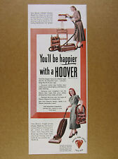 1948 HOOVER Model 50 & 28 Vacuum Cleaners vintage print Ad