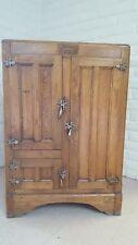 Antique Wood Ice Box – Herrick, Waterloo, Iowa - All Original and Complete