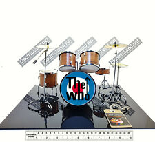 Mini Drum set the WHO keith moon tribute fan 1:4 miniature rock collectible kit