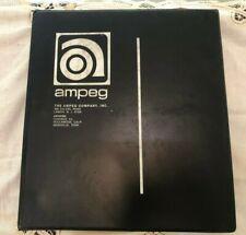 Vintage 1969 Ampeg Amplifer Service Technician Manual Binder