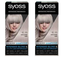 2 X Syoss Ultra Platine Blond 10-55 Permanent Cheveux Teinture 4 Niveau Teintes