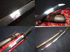 clay tempered T10 steel choji hamon blade jp katana dragon tsuba sharpened sword