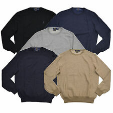 Polo Ralph Lauren Mens Sweater Pima Crewneck Cotton Lightweight Pony Logo  New