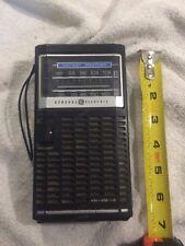 Vintage-GE-General Electric 7-2840B AM-FM-Instant Weather-Transistor Radio Works