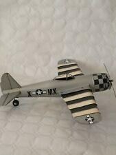 Metal Tin Plate Model - WW2 Silver fighter Plane