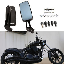 Small Rectangle Motorcycle Side Mirrors 8mm 10mm For Harley Davidson Sportster G