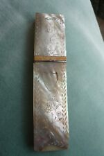 GORGEOUS ANTIQUE 1800'S FRENCH PALAIS ROYAL MOTHER OF PEARL NEEDLE CASE/HOLDER
