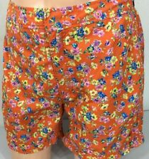 Polo Ralph Lauren Swim Trunks Mens 34 Orange Floral
