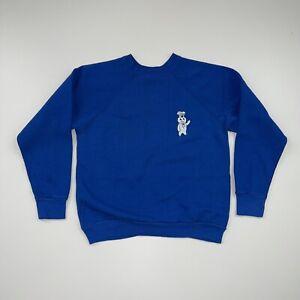 Vintage 80s Pillsbury Doughboy Crewneck Sweatshirt Size S/M Blue
