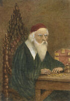 E. Venis, Shylock Counting His Coins – late 19th-century watercolour painting