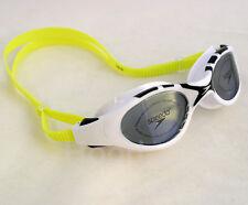 New SPEEDO Adult Swim Goggles UV ANTI FOG LATEX-FREE White/Black/Neon