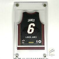 2010-11 Panini Threads LeBron James Miami Heat Away Jersey Die Cut SP in Lucite!