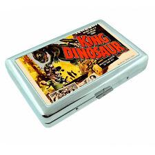 Vintage Poster D183 Silver Cigarette Case Card Holder King Dinosaur Terror