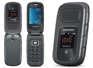 "Unlocked Samsung Rugby III SGH A997 Bluetooth  AT&T 3G 3MP gray 2.2"" Flip Phone"