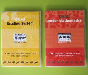 2 x CAMI PC EDUCATION DISC's READING SYSTEM  JUNIOR MATHEMATICS