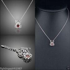 Versilberte Modeschmuck-Halsketten & -Anhänger mit Kristall für Damen