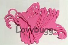 Lovvbugg 10 TEN Pink Bar Hangers Dozen for 18 inch Doll Clothes American Girl