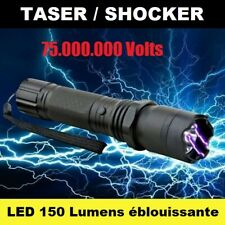 TASER/SHOCKER électrique 75.000.000V PRO Sécurité LED Éblouissante Auto-Défense