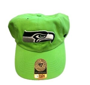 NWT New Seattle Seahawks '47 Brand Franchise On Field Logo Medium Fitted Hat