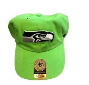 NWT New Seattle Seahawks '47 Brand Franchise On Field Logo XL Fitted Hat