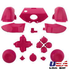 Solid Pink Dpad Thumbsticks RT LT RB LB ABXY Buttons Mod for Xbox One Controller
